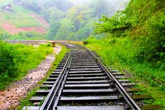 Sri lanaka pociągu sposób obraz stock