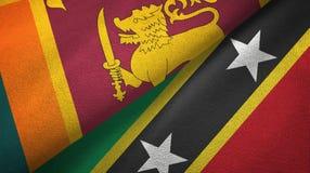 Sri Lanka, święty i dwa flagi tekstylny płótno, tkaniny tekstura ilustracji