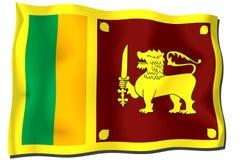 sri lanka σημαιών Στοκ εικόνες με δικαίωμα ελεύθερης χρήσης