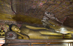 Sri Lanka - буддийский висок подземелья Стоковые Изображения RF