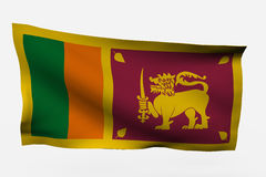 Sri Lanka 3d flag. Isolated on white background Stock Photography