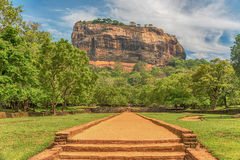 Sri Lanka: alte Lion Rock-Festung in Sigiriya stockfotografie