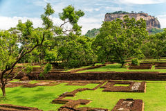Sri Lanka: ancient Lion Rock fortress in Sigiriya Stock Images