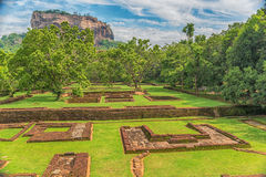 Sri Lanka: ancient Lion Rock fortress in Sigiriya Royalty Free Stock Photo