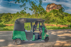 Sri Lanka: ancient Lion Rock fortress in Sigiriya Stock Photo