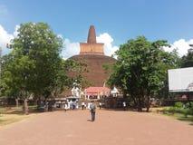 Sri Lanka Anuradapura voor de reis stock afbeelding
