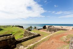 Sri Lanka, Galle - Visiting the medieval town wall of Galle Royalty Free Stock Photography