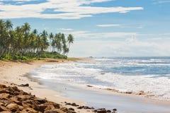 Sri Lanka, Rathgama - Calming natural beach landscape of Rajgama. Sri Lanka, Asia, Rathgama - Calming natural beach landscape of Rajgama aka Rathgama Royalty Free Stock Photos
