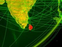 Sri Lanka auf digitaler Erde vektor abbildung