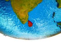 Sri Lanka auf Erde 3D stock abbildung