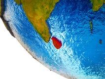 Sri Lanka auf Erde 3D vektor abbildung