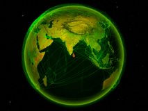 Sri Lanka auf Erde mit Netz stock abbildung