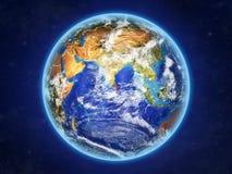 Sri Lanka auf Erde vom Raum lizenzfreie abbildung