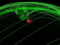 Sri Lanka auf grüner Kugel vektor abbildung