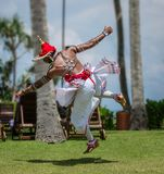 National Lankan dance on the territory of Avani Benton Spa & Resort. Sri Lanka, Bentota - 14 April 2018: national Lankan dance on the territory of Avani Benton Stock Image