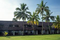 Territory of the hotel Avani Bentona Resort & Spa. Sri-Lanka, Bentota - 14 April 2018: territory of the hotel Avani Bentona Resort & Spa Stock Photography