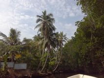 Sri Lanka Bentota rzeka obrazy stock