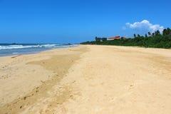 Sri Lanka Bentota strand Arkivbilder