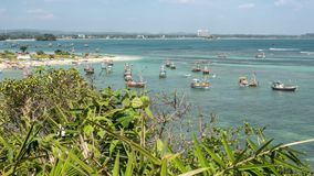 Sri Lanka-Bucht-bewegliche Boote Timelapse 4k stock video footage