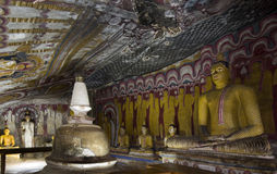 Sri Lanka - Buddhist Cave Temple. Interior of the Buddhist Cave Temples in Dambulla in the Cultural Triangle in Sri Lanka Royalty Free Stock Photography