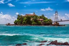 Sri-Lanka buddhist temple on the island. Stock Photos