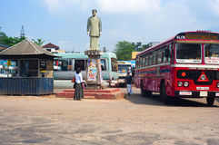 Sri Lanka bus station Royalty Free Stock Images