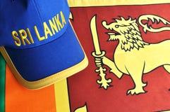 Sri Lanka Cap and Flag Stock Photo
