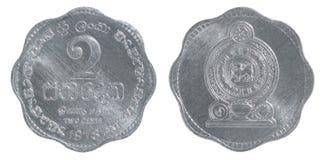 Sri Lanka 2 cent mynt Royaltyfri Bild
