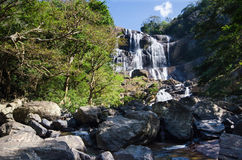Sri Lanka, Central Province, Rathna waterfall. Rathna Ella, at 111 feet, is the 10th highest waterfall in Sri Lanka, situated in Kandy District. The area stock photography
