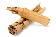 Sri-Lanka cinnamon sticks crossed isolated Stock Images