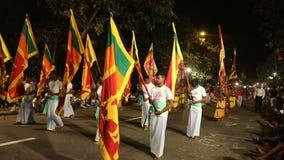 Sri Lanka, Colombo, febrero de 2017, festival de Esala Perahera almacen de metraje de vídeo