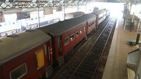 Sri Lanka, Colombo, February 2017, Colombo railway station. Sri Lanka, Colombo, February 2017, train departs from Colombo railway station stock video footage