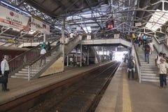 Sri Lanka, Colombo, le 11 février 2017, gare ferroviaire de Colombo Photographie stock libre de droits
