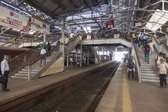 Sri Lanka, Colombo, o 11 de fevereiro de 2017, estação de trem de Colombo Fotografia de Stock Royalty Free