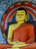 Sri Lanka, colour statue Buddha Royalty Free Stock Images