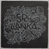 Sri Lanka country hand lettering and doodles Stock Photography
