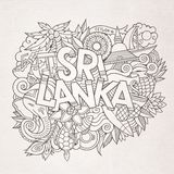 Sri Lanka country hand lettering and doodles Royalty Free Stock Images