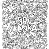 Sri Lanka country hand lettering and doodles Stock Photos
