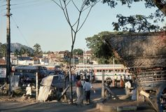 1977 Sri Lanka Dambulla-Busbahnhof Stockfoto