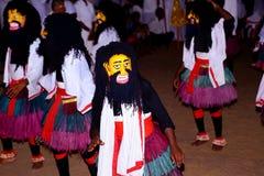 Sri Lanka, das traditionellen Tanz perfoming ist Lizenzfreies Stockbild