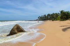 Sri Lanka. De kustlijn van stranden. Stock Foto