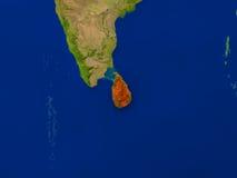 Sri Lanka de l'espace en rouge Photos stock