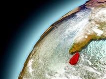 Sri Lanka de la órbita de Earth modelo Imagenes de archivo