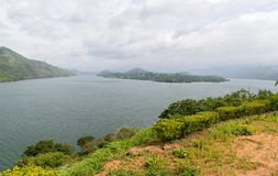 Sri Lanka. Different views of the lake. Royalty Free Stock Photography