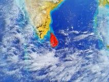 Sri Lanka on Earth from space vector illustration