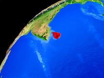 Sri Lanka on Earth from space royalty free stock photos