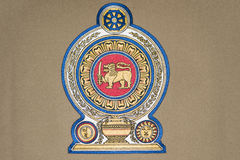 Sri Lanka Emblem Royalty Free Stock Photo