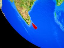 Sri Lanka en la tierra del espacio stock de ilustración