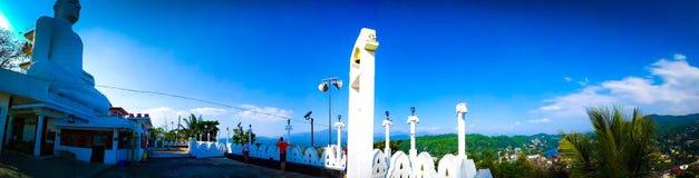 Sri Lanka f?r Kandy siktspunkt b?sta st?lle som ser den kandy staden i ett st?lle royaltyfri foto