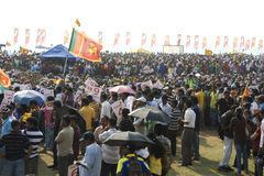 Sri Lanka fans at Cricket World Cup 2011 Royalty Free Stock Images
